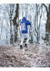 Kék Graffiti pulóver (M)