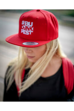 BuDUNKpest Classic Snapback piros