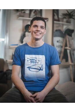 Kék Dunk Hard póló