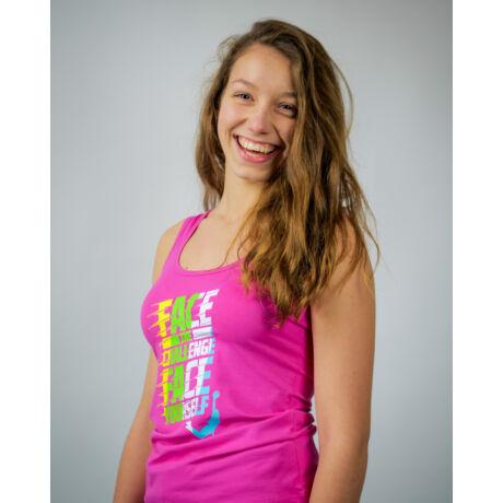 Rózsaszín Face Team trikó (S)