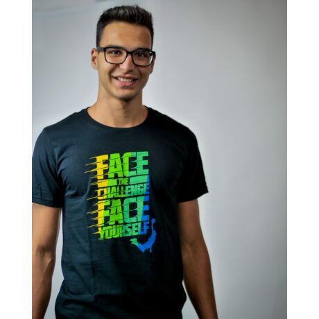 Fekete Face Team póló (XXL)