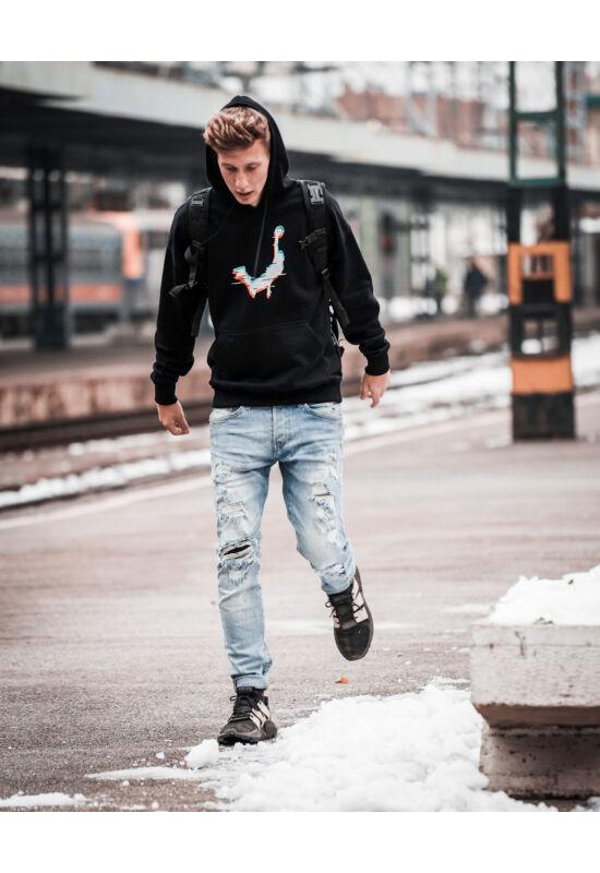 Fekete Face Team pulóver (140)